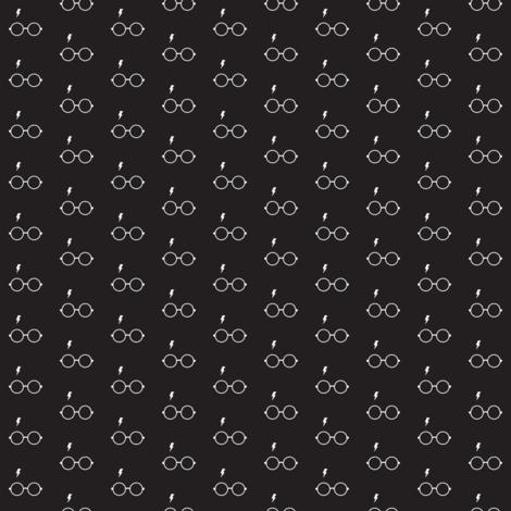 Wizard Glasses // Black // Mini fabric by hipkiddesigns on Spoonflower - custom fabric