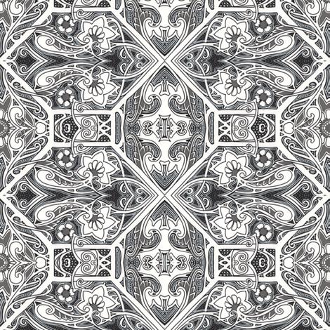 Criss Cross Flower Toss fabric by edsel2084 on Spoonflower - custom fabric