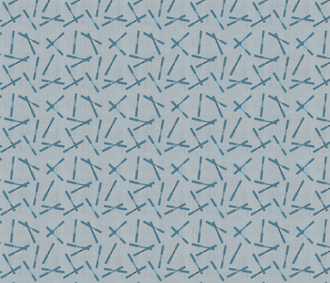 Reed Scatter Blues fabric by beckarahn on Spoonflower - custom fabric