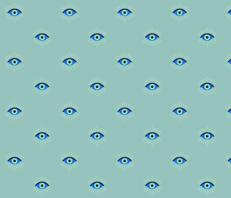 Greek Evil Eye fabric by katie_cary_rose on Spoonflower - custom fabric