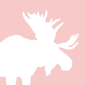 pink moose pillow panel