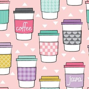coffee-cups-on-soft pink