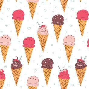Sweet Ice Cream Cones