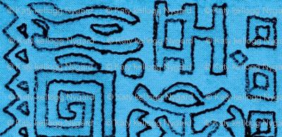 greek block print in aegean