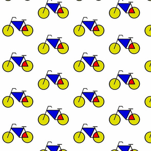 Mondrian Bicycle Blue Red Yellow v1