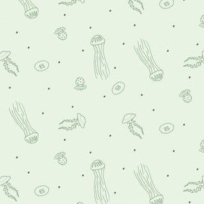 Jellyfish in Green