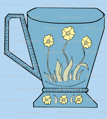 Dutch Blue Daffodils Light Blue Background