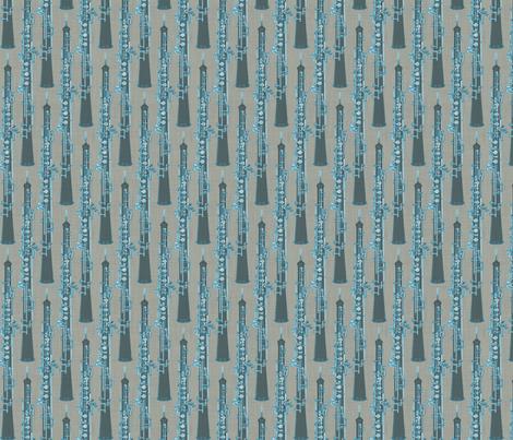 Oboe Stripe Salsa fabric by beckarahn on Spoonflower - custom fabric