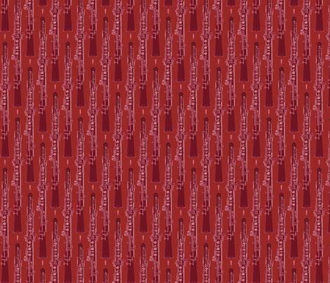 Oboe Stripe Tango Red fabric by beckarahn on Spoonflower - custom fabric
