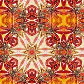 Kaleidoscope Cannabis Leaves Yellow/Orange
