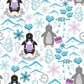 CY. Lovely penguin family