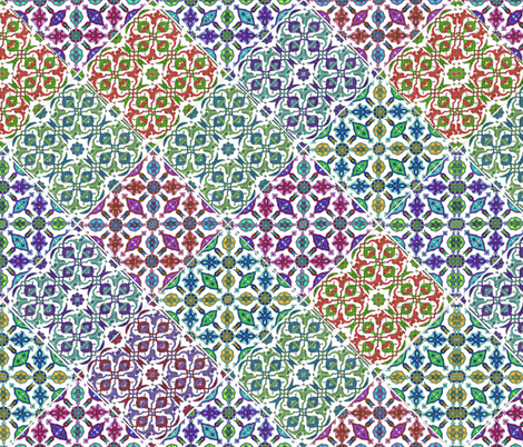 estilo español fabric by hypersphere on Spoonflower - custom fabric
