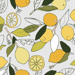 Lemon grove in yellow