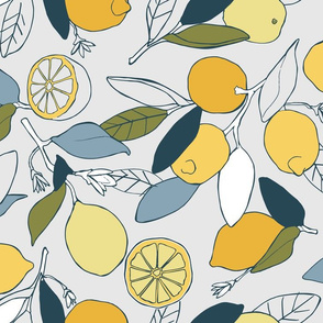 LEmon grove in blue and yellow