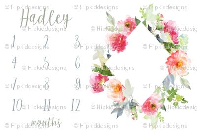 Knoll Garden Blooms Baby Milestone Fabric