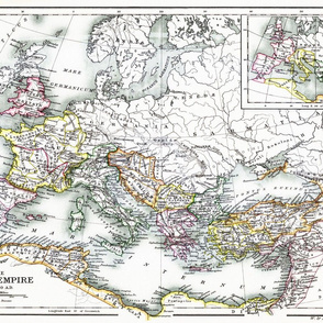 """Roman Empire 350 AD (27"""" W)"""