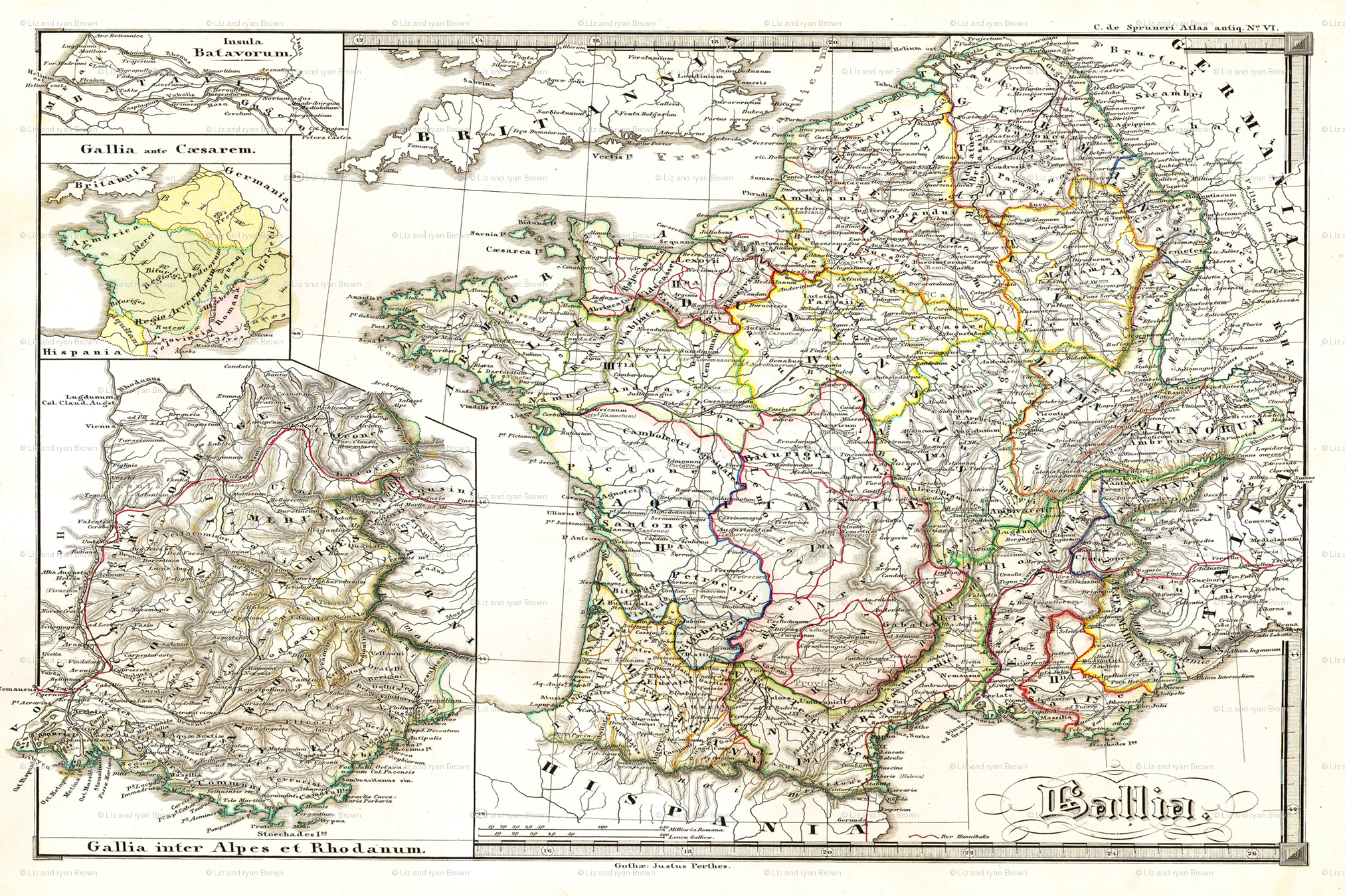 1855 Map of Gaul (27