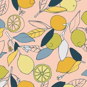 Lemon grove in peach