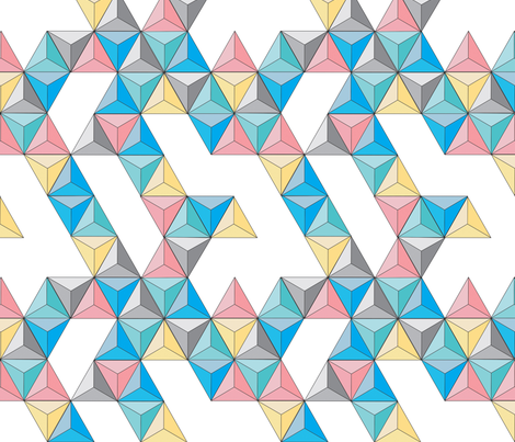 Origami Triangles fabric by gracie92 on Spoonflower - custom fabric