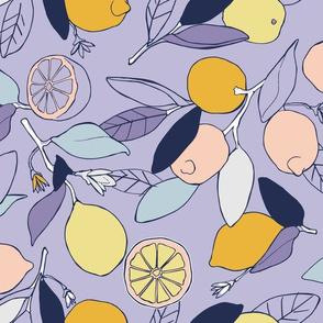 Lemon grove in purple