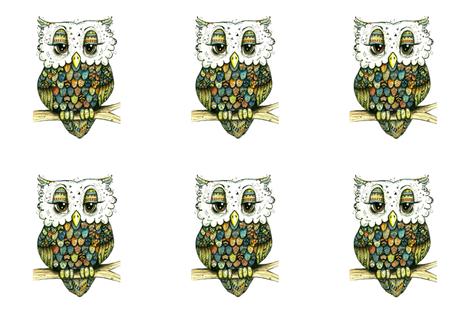 Re-sized Owls fabric by taraput on Spoonflower - custom fabric