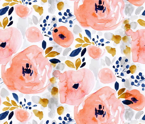 genevieve floral fabric by crystal_walen on Spoonflower - custom fabric