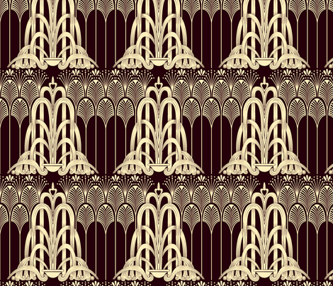 Art Deco 1920s fabric by ampersand_designs on Spoonflower - custom fabric