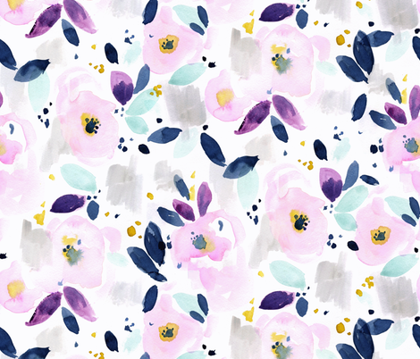 mystical floral fabric by crystal_walen on Spoonflower - custom fabric
