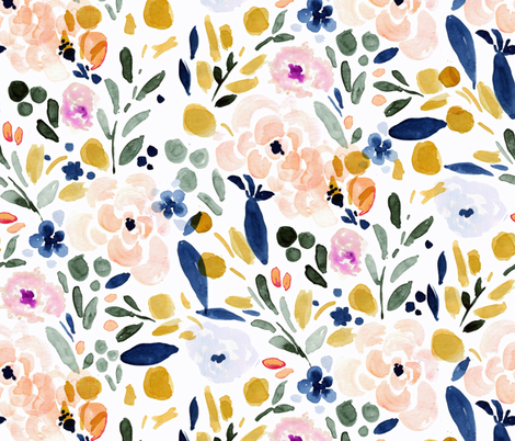 Sierra-Floral fabric by crystal_walen on Spoonflower - custom fabric