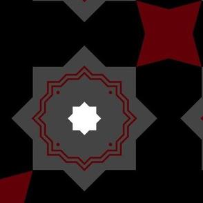 Black, Grey, Red Kaleidoscope