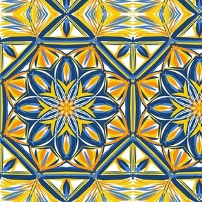 Sunny Courtyard Border Tiles