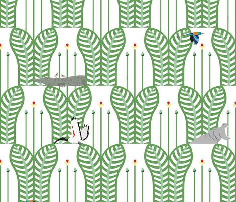Art deco across the nil fabric by sabre_de_bois on Spoonflower - custom fabric