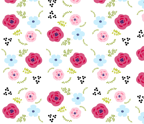 spring bouquet Medley - LARGE 20  fabric by drapestudio on Spoonflower - custom fabric