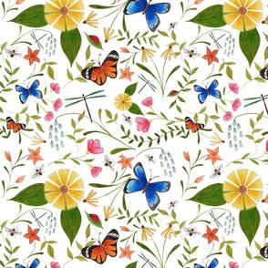 Wildflower Friends - white background