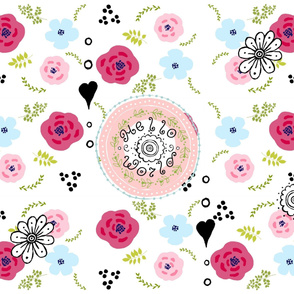 YARD 42 hello world spring bouquet medley - wholecloth