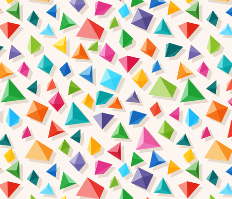 Paper Pyramid fabric by spellstone on Spoonflower - custom fabric