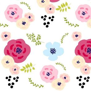 flower doodles XLG14- spring garden - peachy