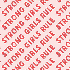 strong girls rule - pink and red