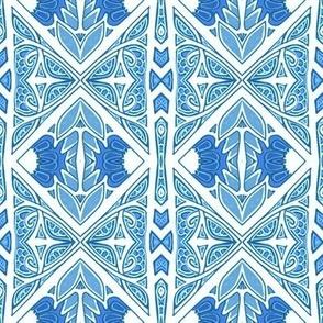 New Blue Checkerboard Stripe