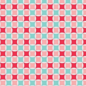 Red Pink and Blue Retro