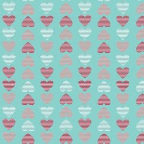 Striped Hearts