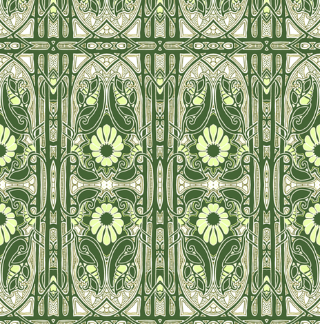 The Gothic Flower fabric by edsel2084 on Spoonflower - custom fabric