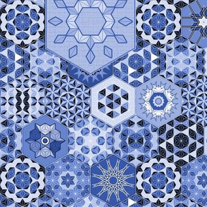 Hexagons Tiles (Azul)