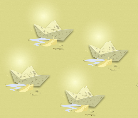 paper boat fabric by tonz-art on Spoonflower - custom fabric