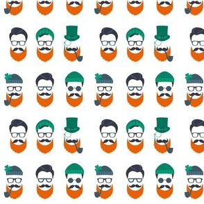 Mini Hipster Leprechauns // White