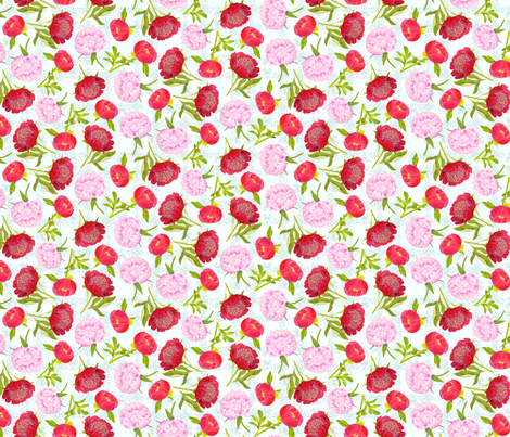 BasicPeonies fabric by blairfully_made on Spoonflower - custom fabric