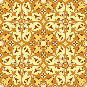 Medieval theme abstract, gold tones