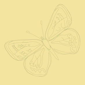 Lepidoptera Sun Large Butterfly Monochromatic 12inch