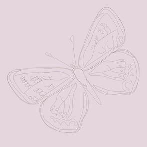 Lepidoptera Ultra Light Violet Large Butterfly Monochromatic 12inch