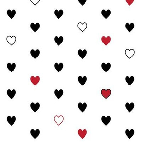 Red + Black Hearts – Love Heart Valentines Day